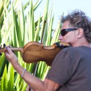 Thomas Goodlunas Playing Violin on Maui